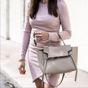 Leith Purple Ruched Dress